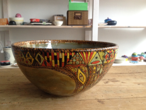 Handbemalte Schale Soho, Keramik bemalen Eigenlob