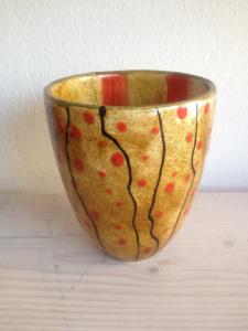Bemalte Konische Vase, Keramik bemalen Eigenlob
