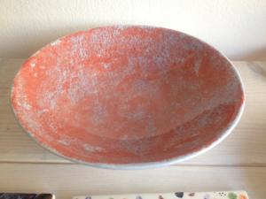 Bemalter Pastateller, Keramik bemalen Eigenlob