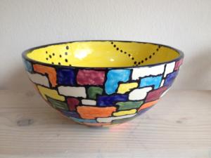 Bemalte Sohoschale, Keramik bemalen Eigenlob
