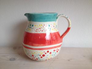 Bemalter Krug 1,5 Liter, Keramik bemalen Eigenlob