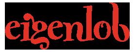 Eigenlob Logo in Rot, Keramik bemalen Eigenlob