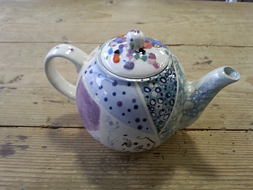 Retro-Teekanne Keramik selbst bemalen