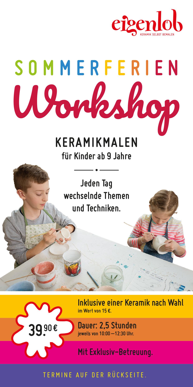 Flyer für Ferienprogramm Keramik malen