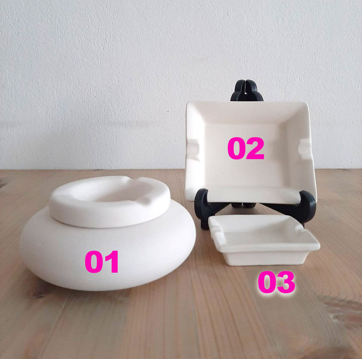 Aschenbecher aus Keramik zum selbst bemalen
