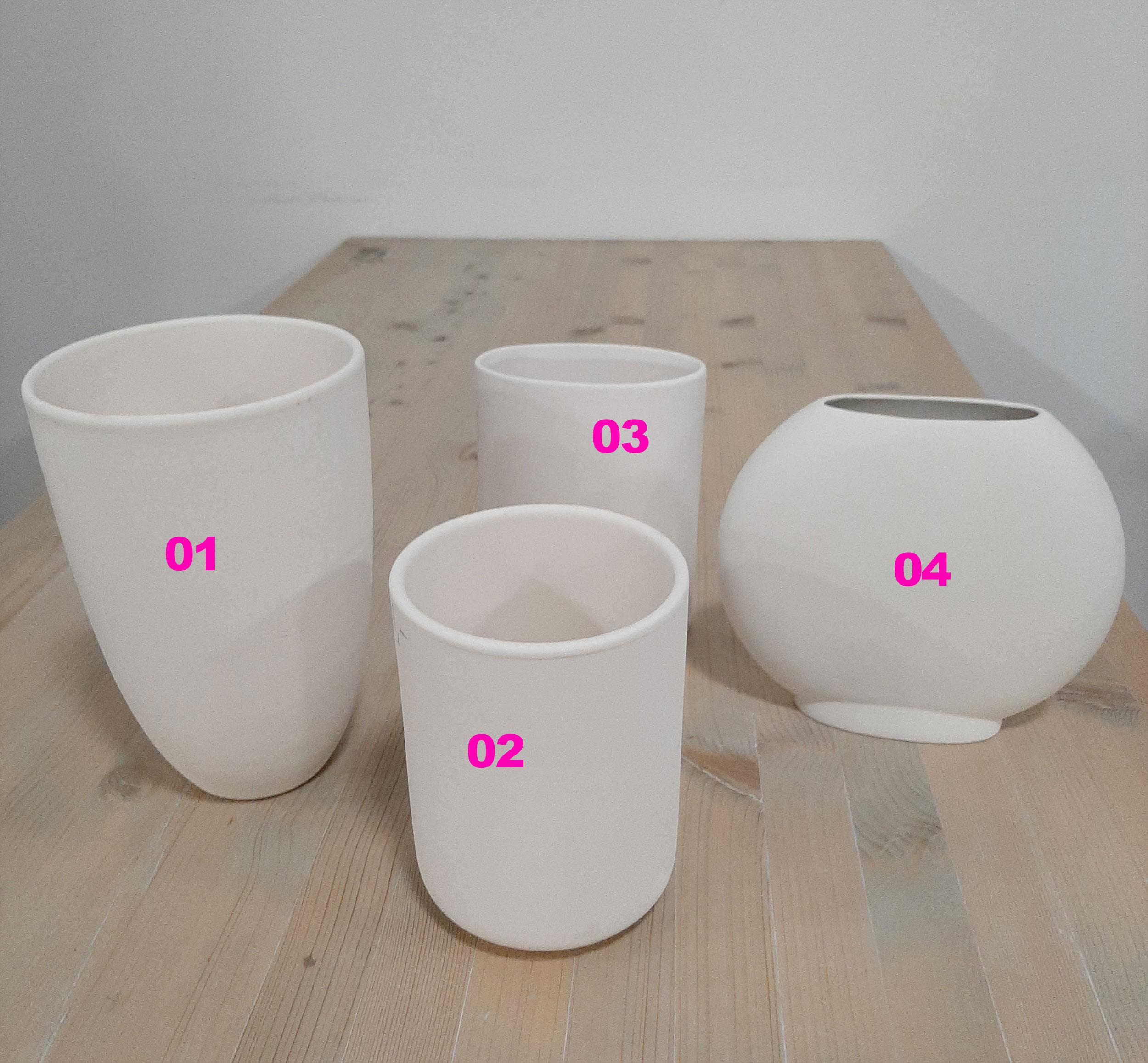 Große Vasen im Kermaik-Malstudio Eigenlob