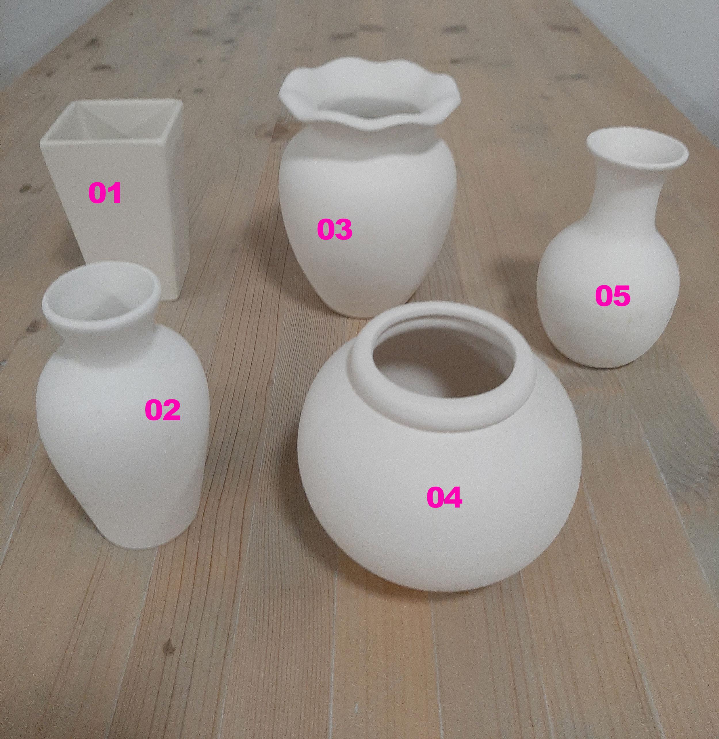 Mittelgroße Vasen Keramik-Malstudio Eigenlob