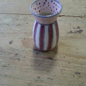 Handbemalte Vase klein, Keramik bemalen Eigenlob